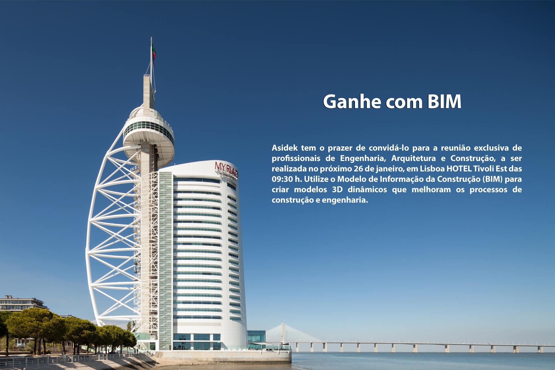 """Tecnologia BIM para Arquitetura, Engenharia e Construção, """"Ganhe com BIM"""""""
