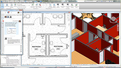 Herramienta de chat Communicator en Collaboration for Revit