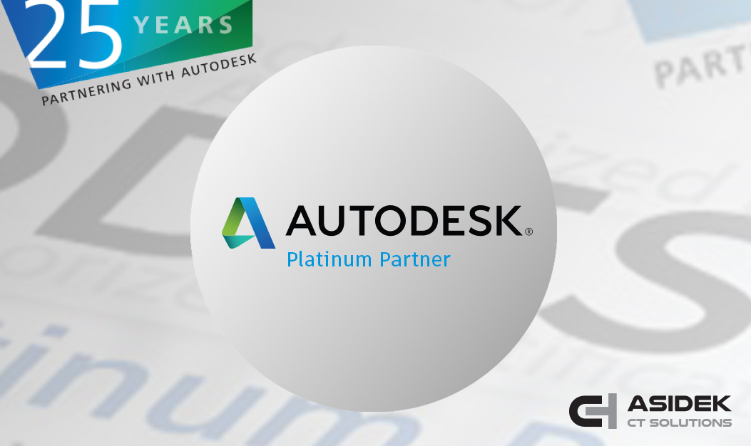 Asidek mantiene la certificación Platinum Partner de Autodesk.