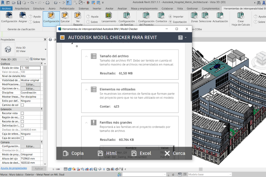 Autodesk BIM Interoperability Tools for Revit: la herramienta Model Checker