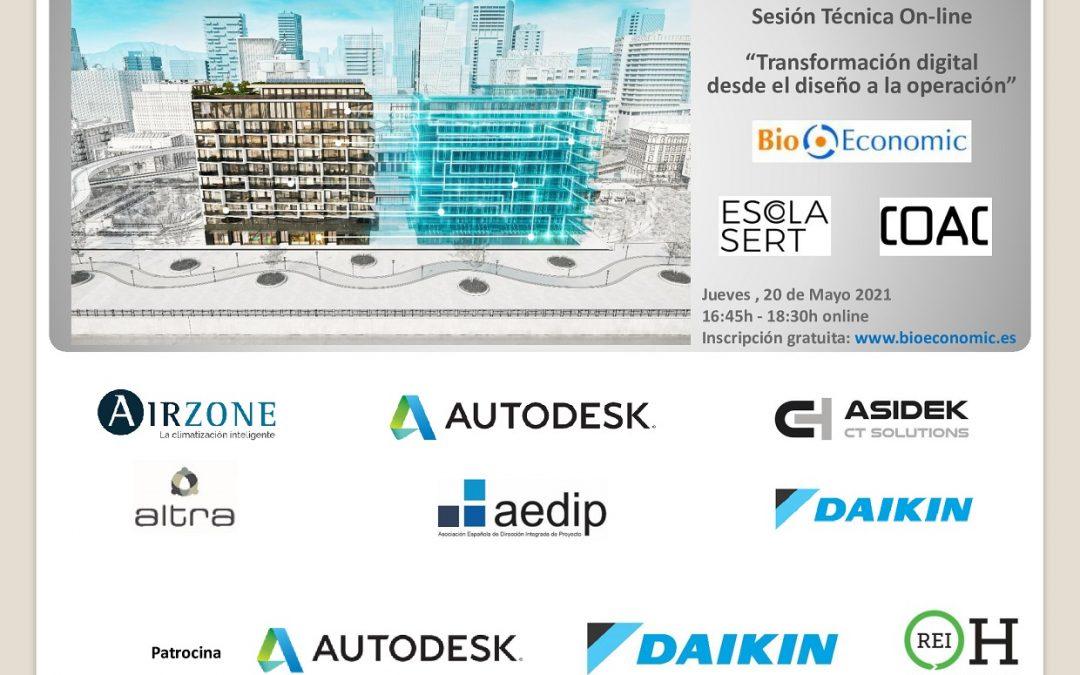 """Sesión Técnica Online de BioEconomic """"Transformación digital desde el diseño a la operación"""""""